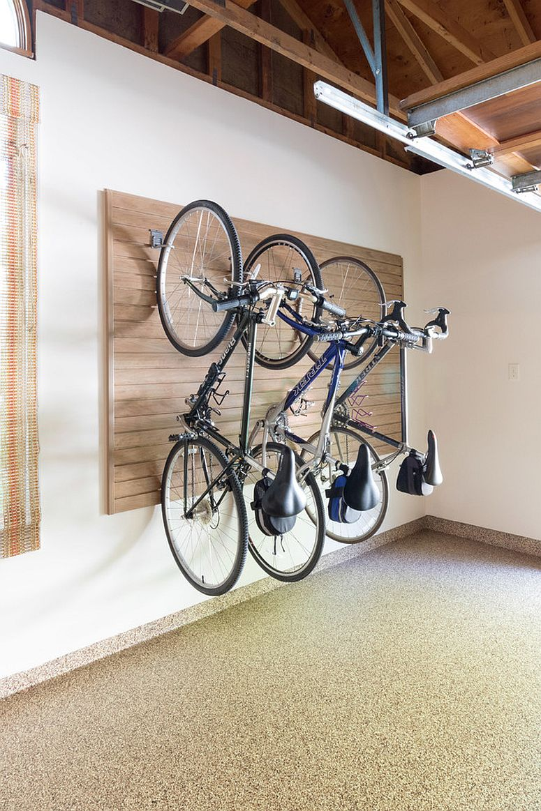 Make a store wall that holds all the bikes with ease