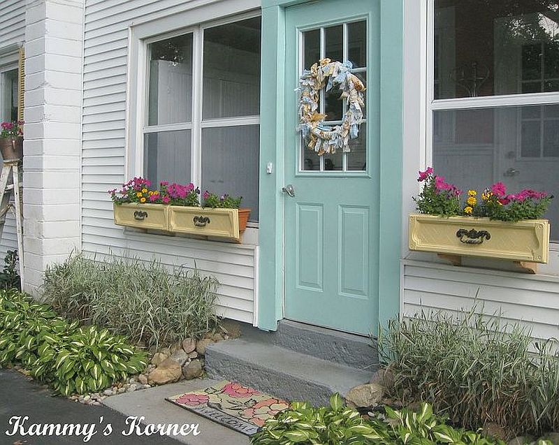 Make your windows brighter with upcycled drawer DIY flower planters