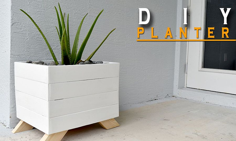 Minimal and modern DIY planter made from wood