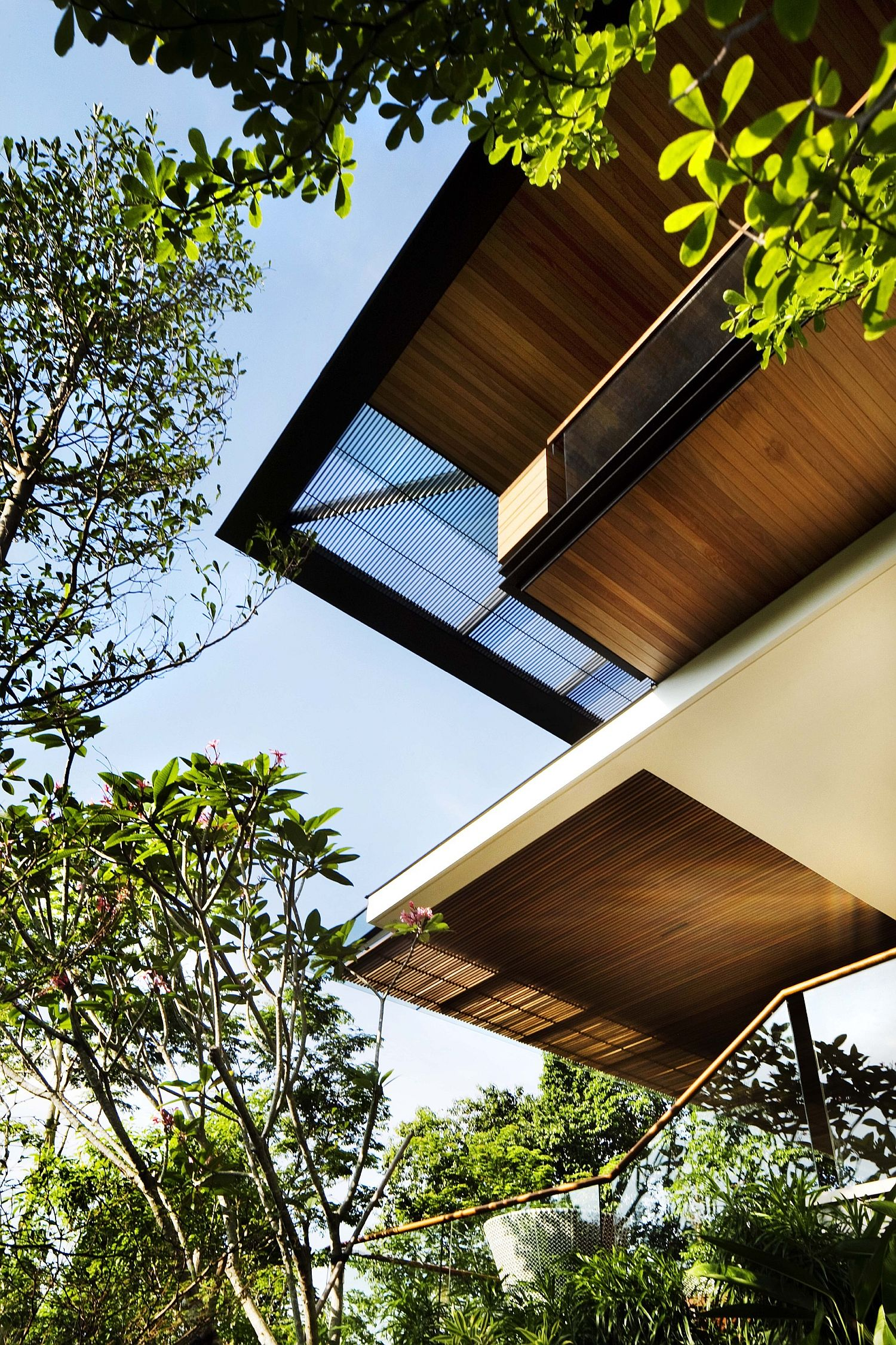 Multi-level stunning home in Singapore with ample greenery all around
