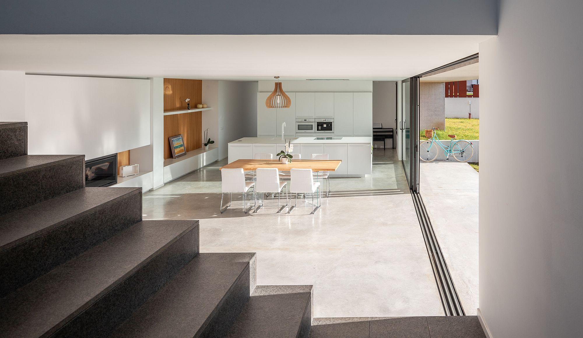 Natural lighting illuminates the kitchen and dining area beautifully