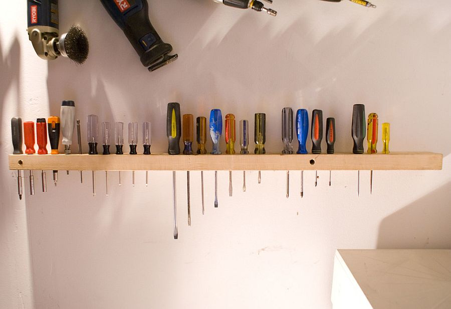 Perfect way to store everything from screwdrivers to small garage tools with ease