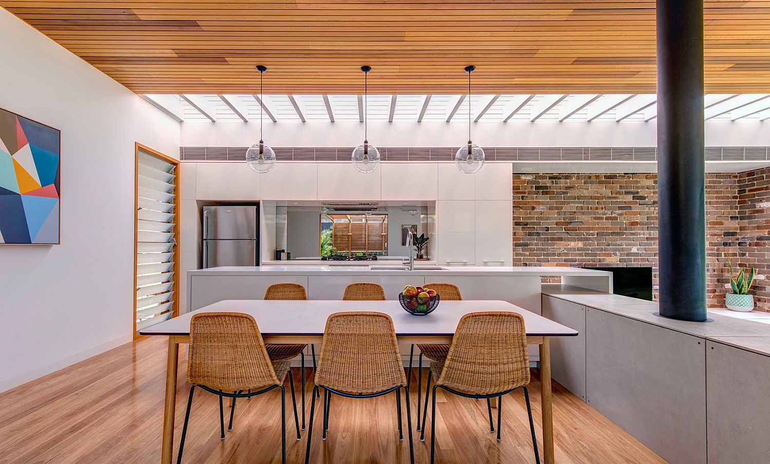 Skylight brings plenty of natural task lighting into the kitchen