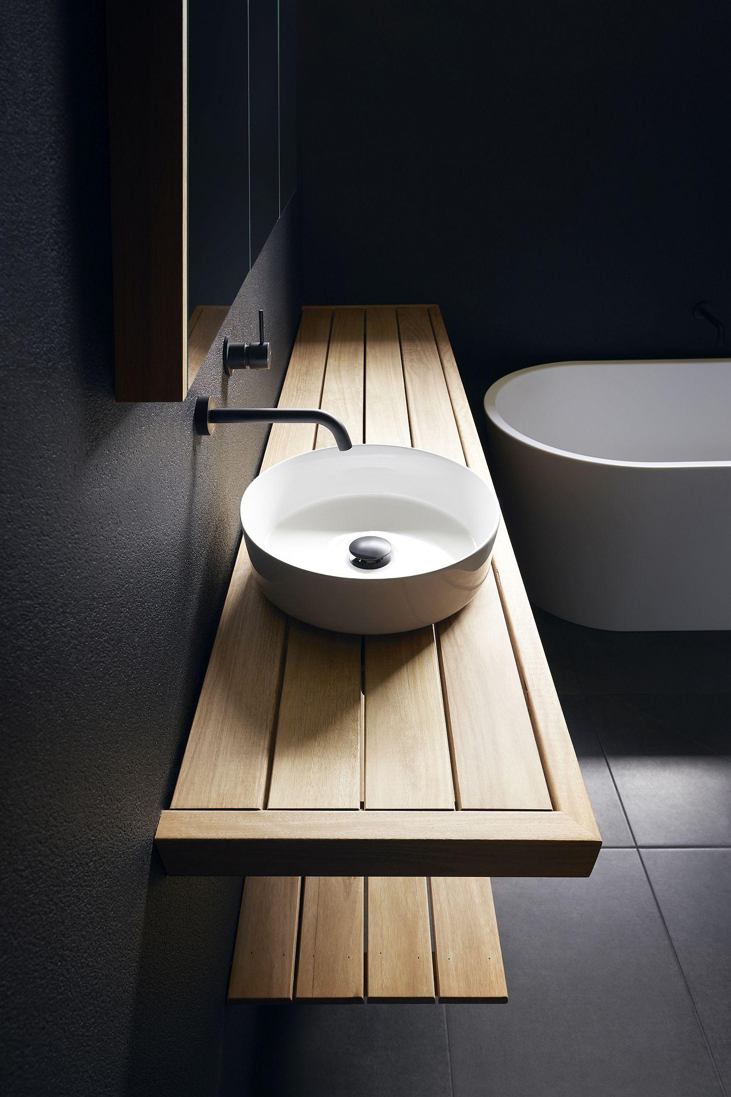 Slim-floating-wooden-vanity-for-the-modern-minimal-bathroom-in-black