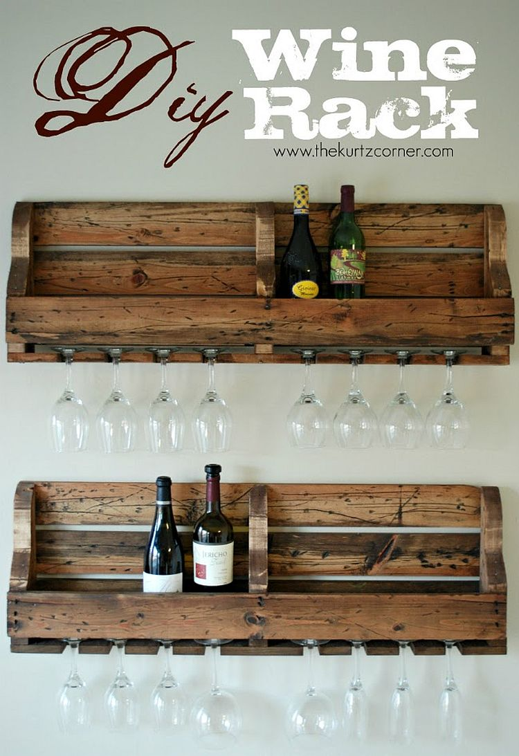 Smart DIY wine rack made from reclaimed wood