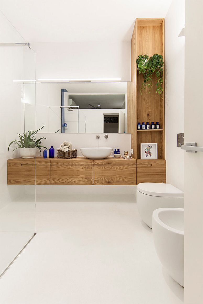 Smart-bathroom-in-white-and-wood