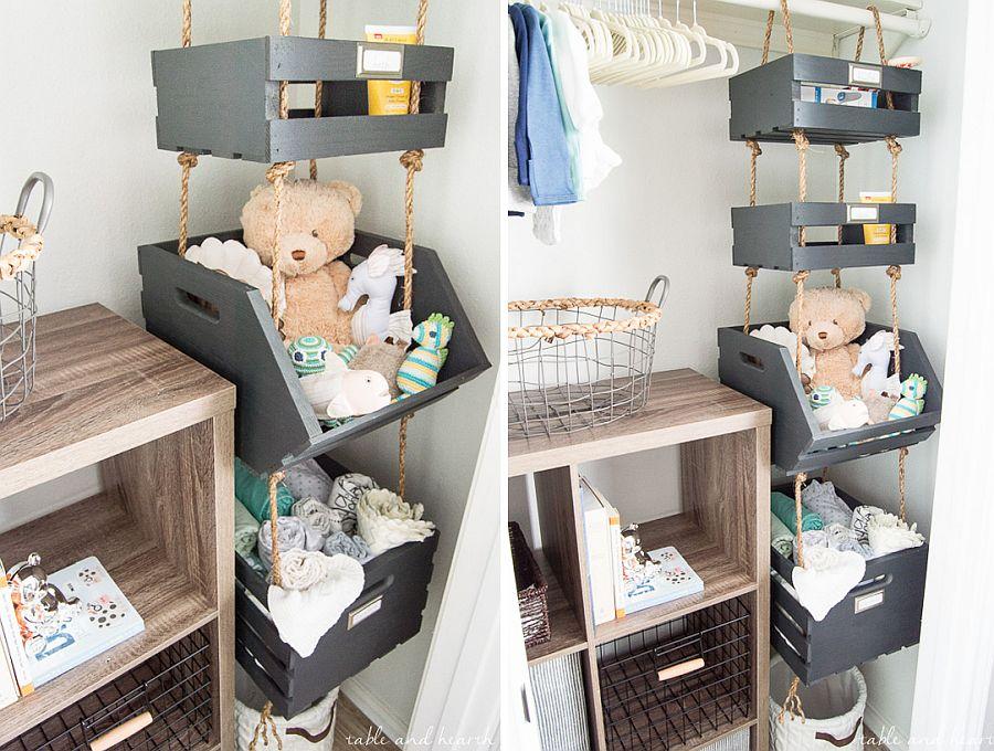 Space-savvy hanging shelves in the corner DIY