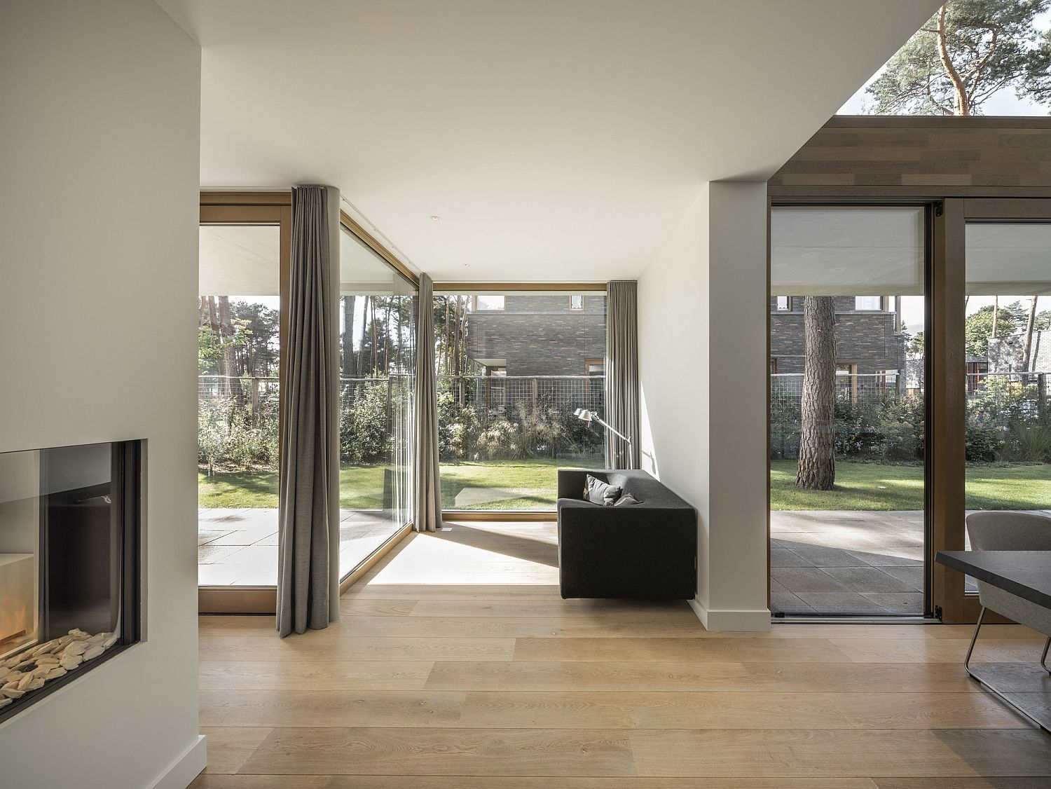 Spacious box-style living area of Villa Zeist 2 in Netherlands