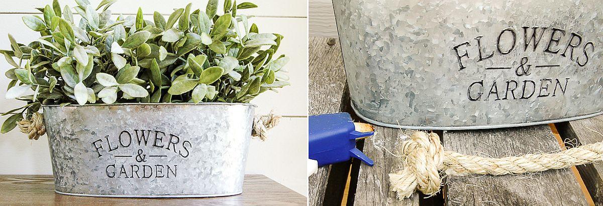 Sparkling Inexpensive Galvanized Planters DIY Idea