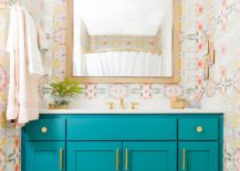 Striking-and-fun-way-to-add-teal-using-the-bathroom-vanity-217x155