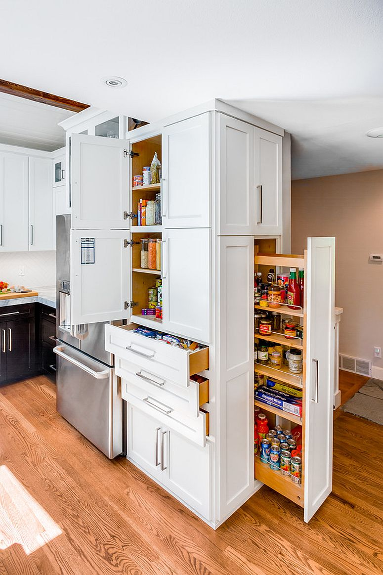 Stunning custom unit offers multiple storage options in a small space