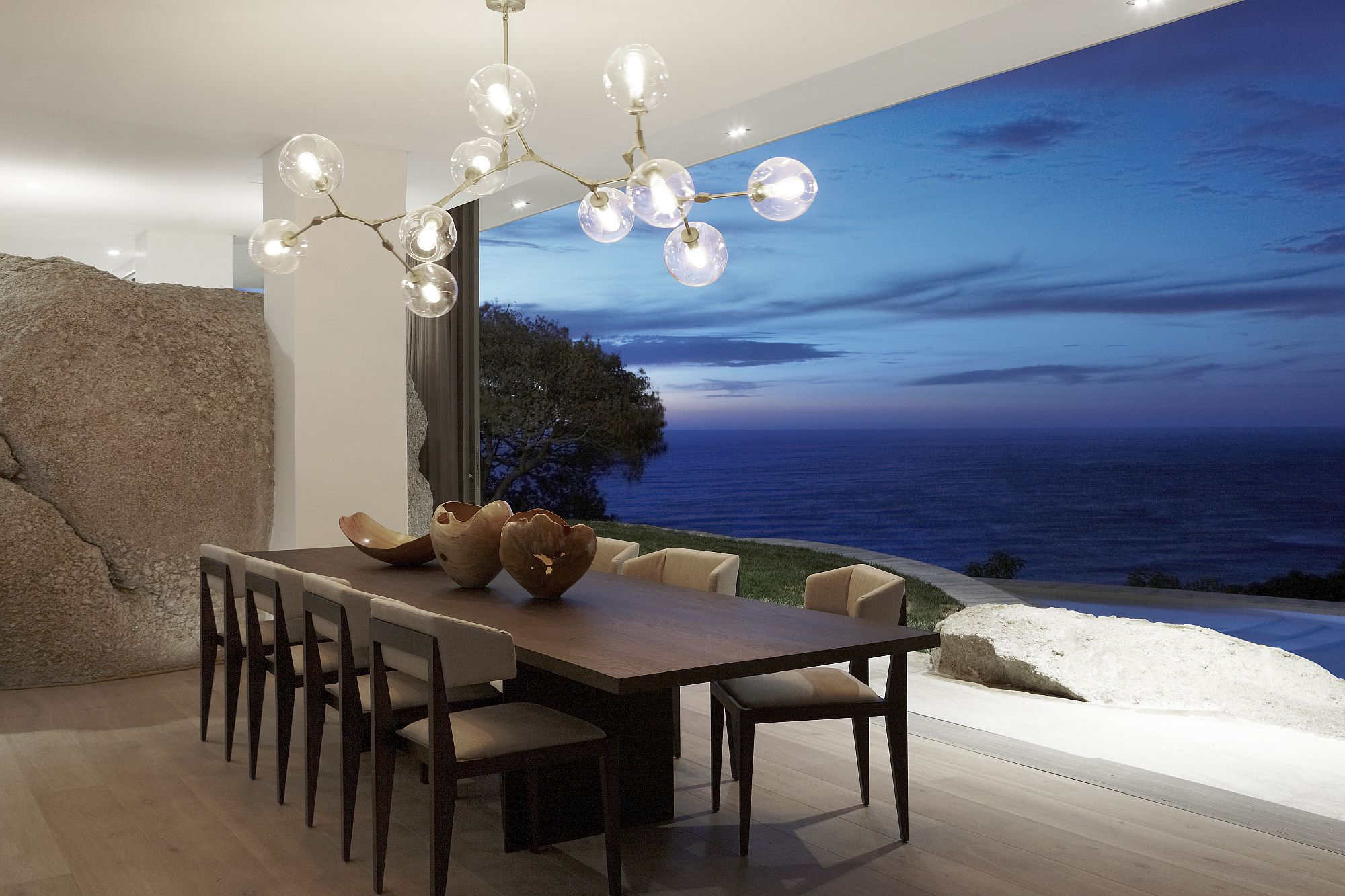 Sun, Surf and natural beauty become a part of the amazing home