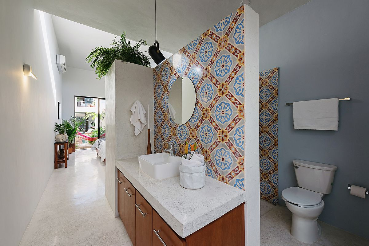 Tiles-bring-color-and-pattern-to-the-bathroom-in-white