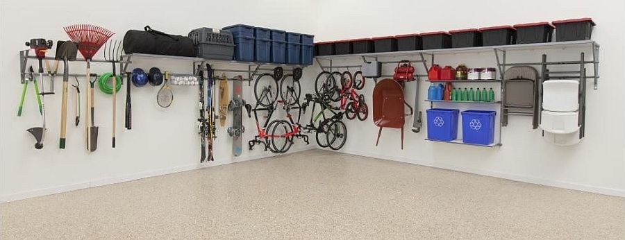 Use multiple organizational idea to clean up the garage appeal
