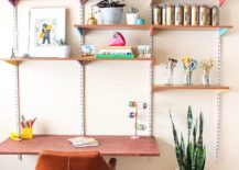 Wall-mounted-shelves-and-simple-desk-for-the-avid-crafter-with-limited-space-217x155