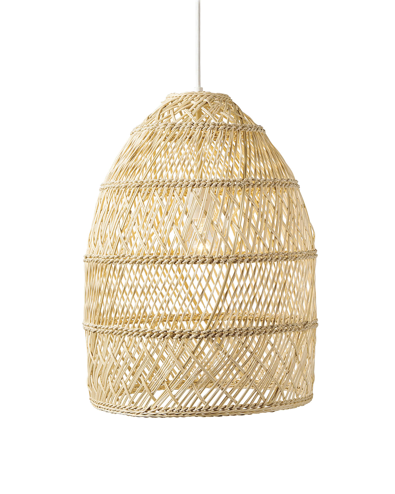 Woven pendant lights from Serena & Lily