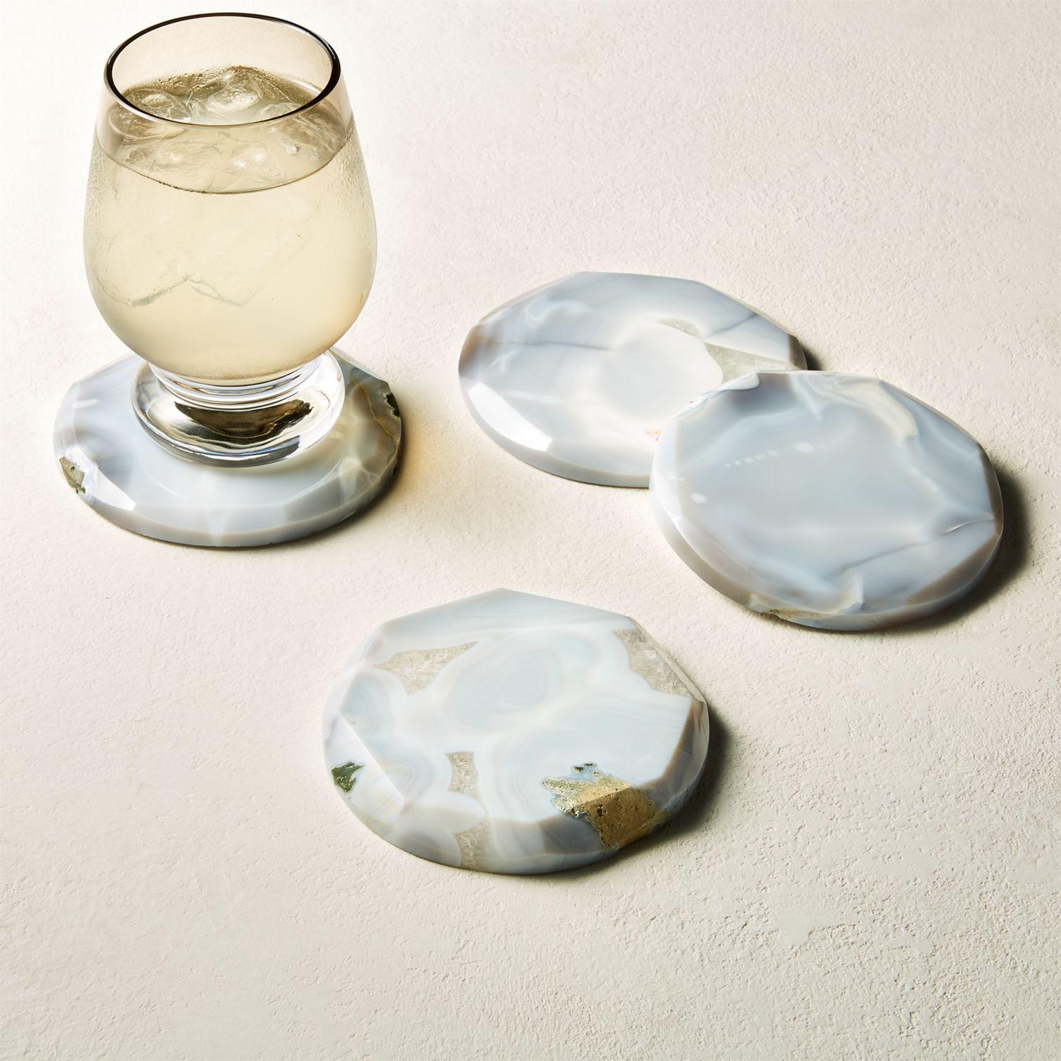Agate coasters from CB2