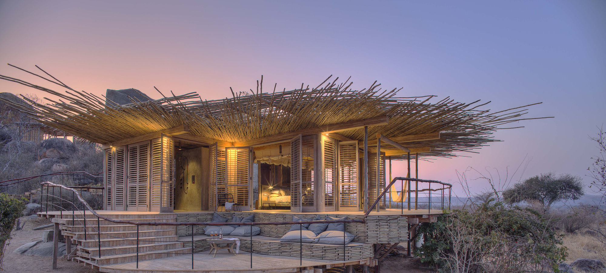 Beautiful natural lodge in Ruaha National Park, Tanzania allows you to explore untouched Africa