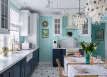 Combing-blue-white-and-gray-in-the-beach-style-kitchen-and-dining-space-with-ease-217x155