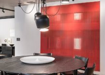 Dining-room-with-a-hint-of-red-and-stylish-contemporary-lighting-217x155