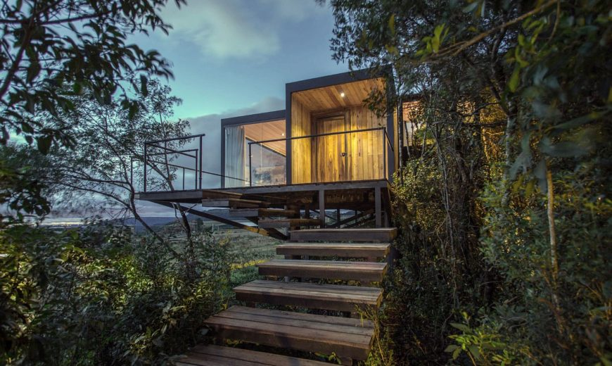 Gorgeous Greenery and Minimal Footprint Create Stunning Brazilian Cabin