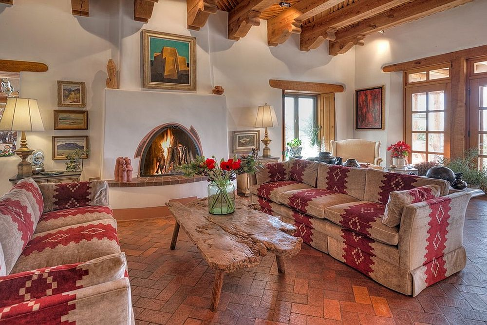 Fireplace is the heart and soul of this classic living room