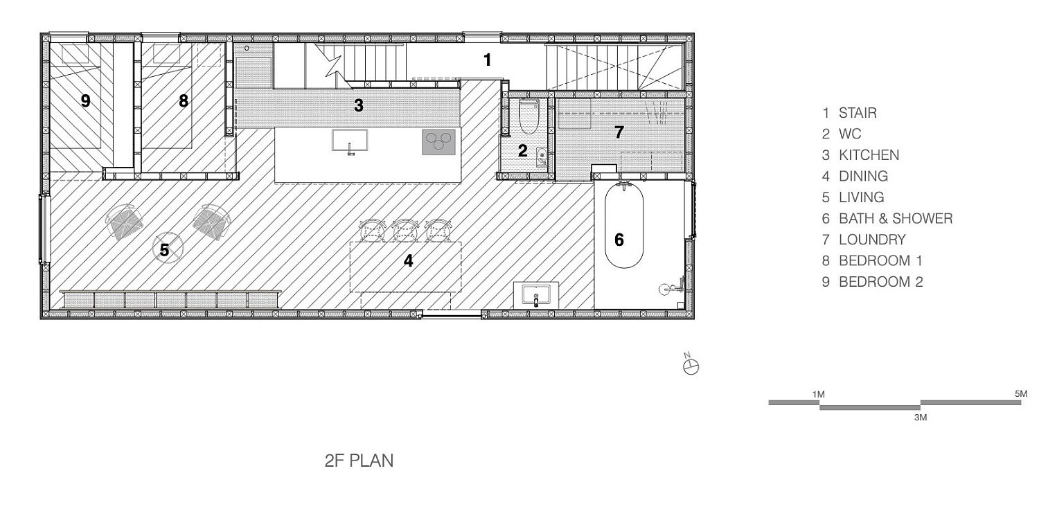 First-level-floor-plan-of-the-IDUMI-Cafe-Residence