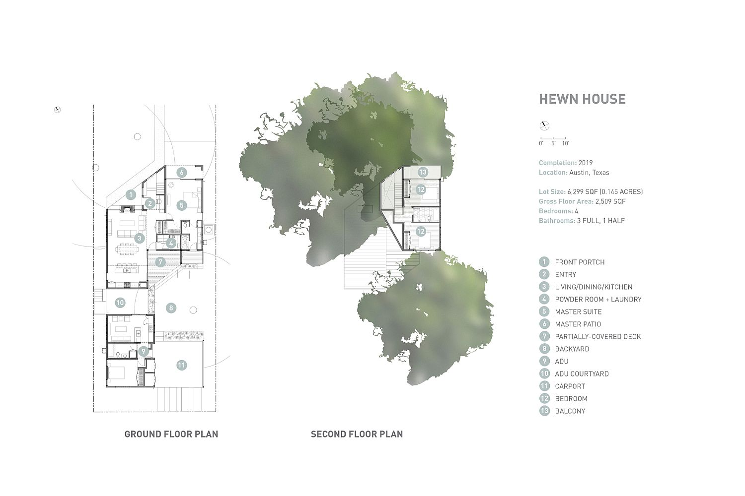 Floor plan of the Hewn House in Austin