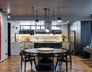 Concrete Apartment: Polished Blend of Black, White and Everything In Between!