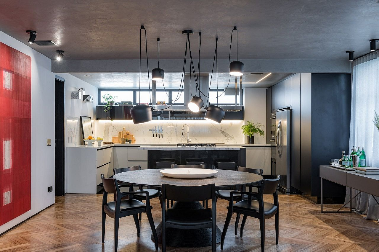 Concrete Apartment Polished Blend Of Black White And