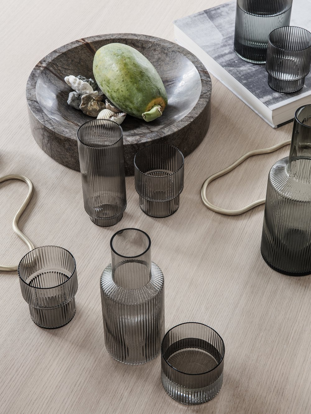 Grooved barware from ferm LIVING