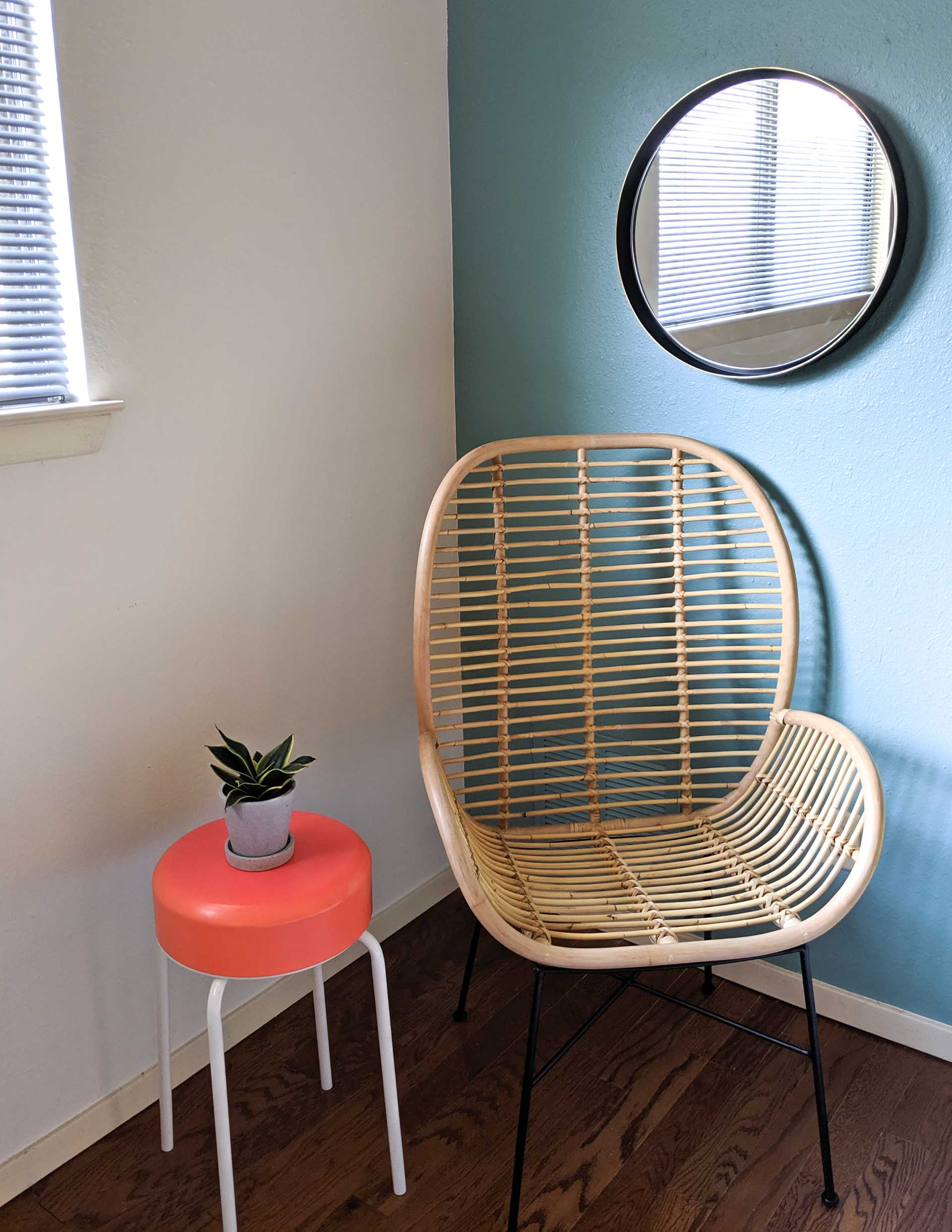 Less is more design with a rattan chair
