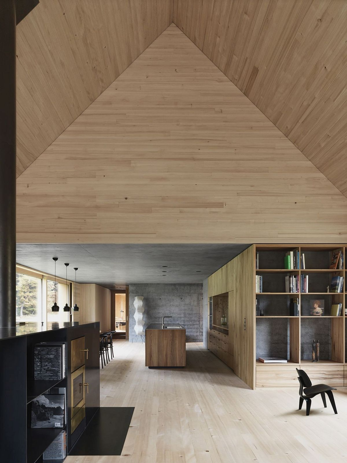 Lower-level-living-area-kitchen-and-dining-of-the-spacious-Austrian-house