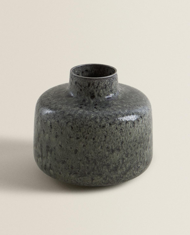 Modern vase in shades of grey