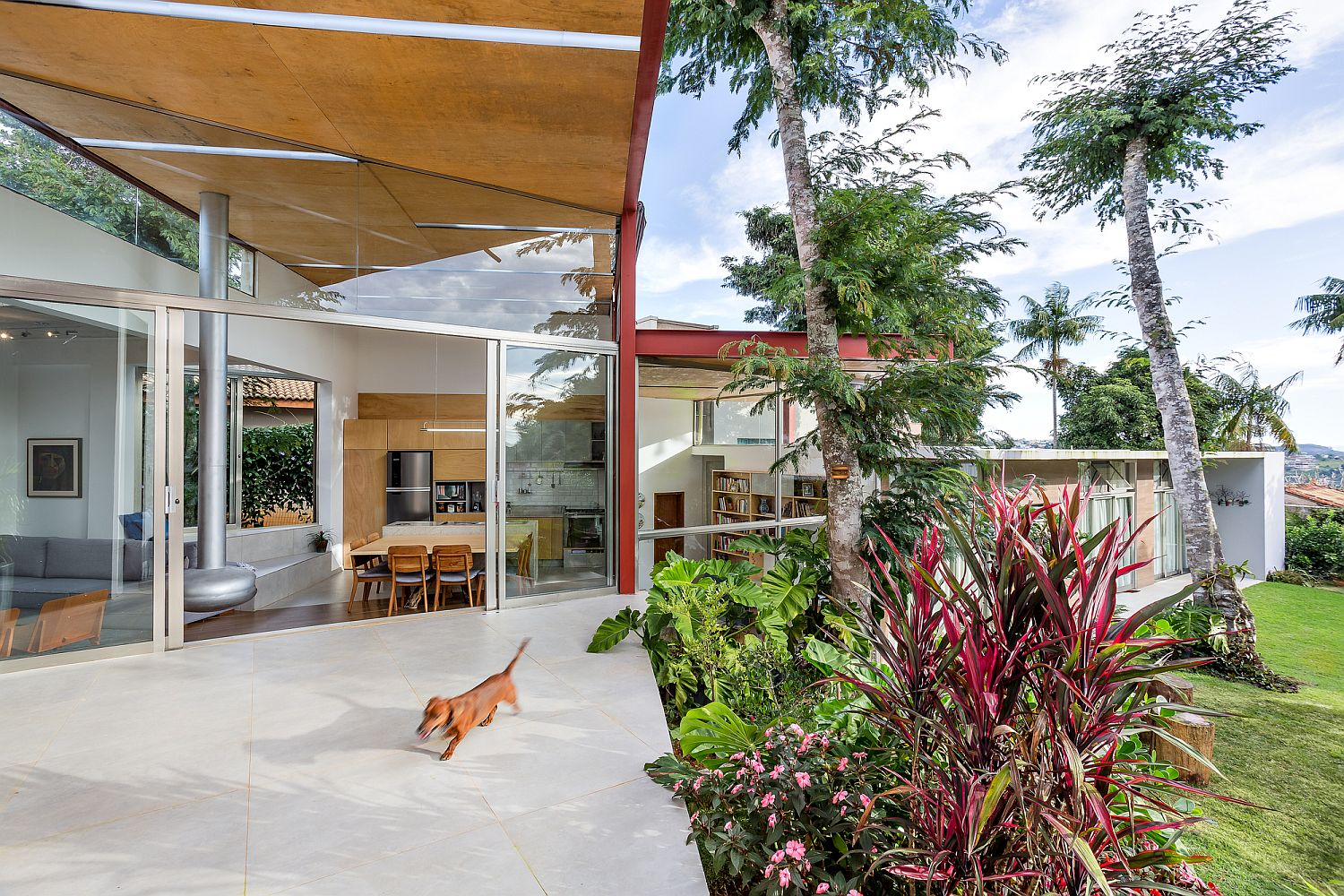 Natural landscape outside feels like an extension of the living area