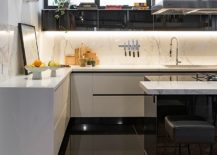 Polished-kitchen-and-interior-of-the-Concrete-Apartment-in-Sao-Paulo-217x155