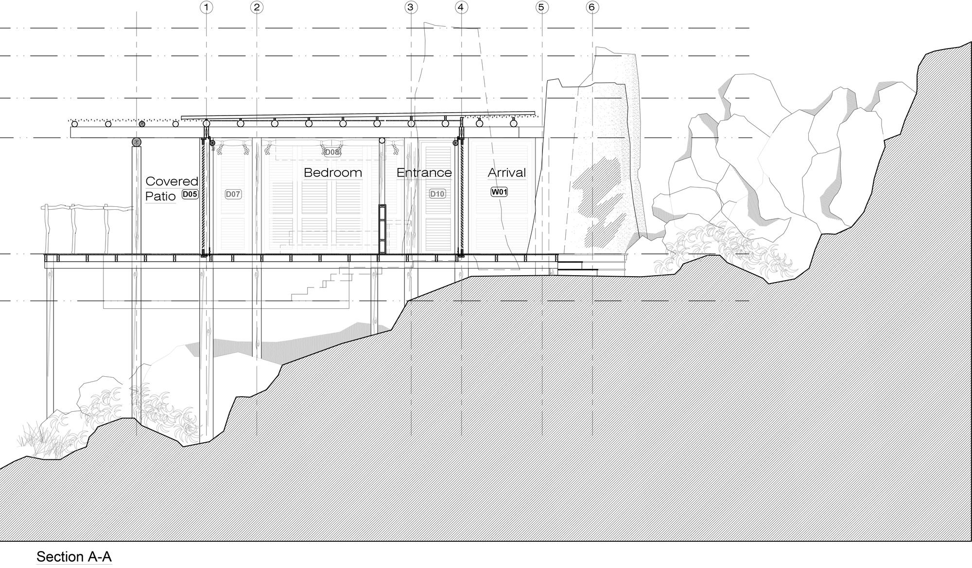 Sectional-plan-of-Jabali-Ridge-Lodge-designed-by-Nicholas-Plewman-Architects