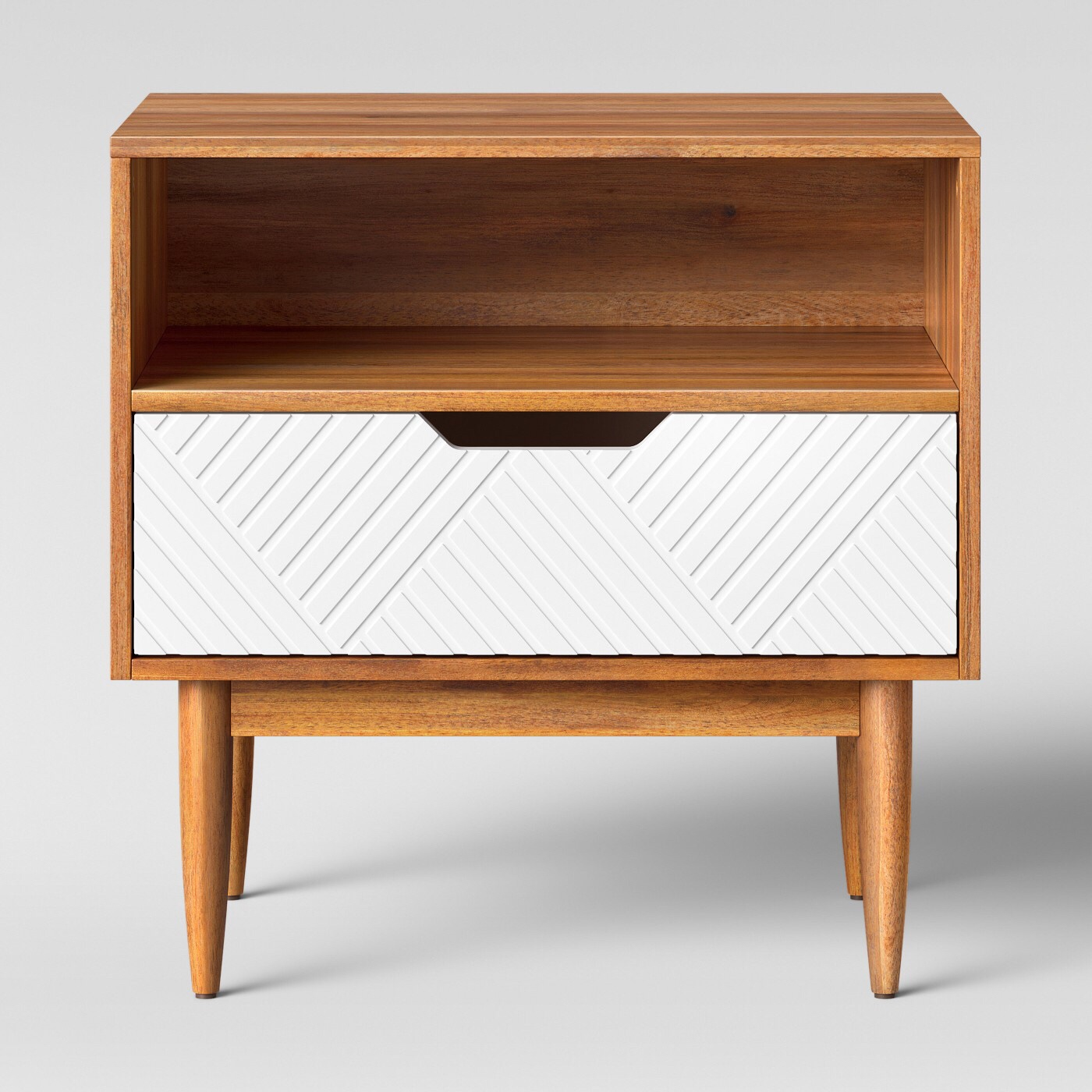 Side table with geo patterning