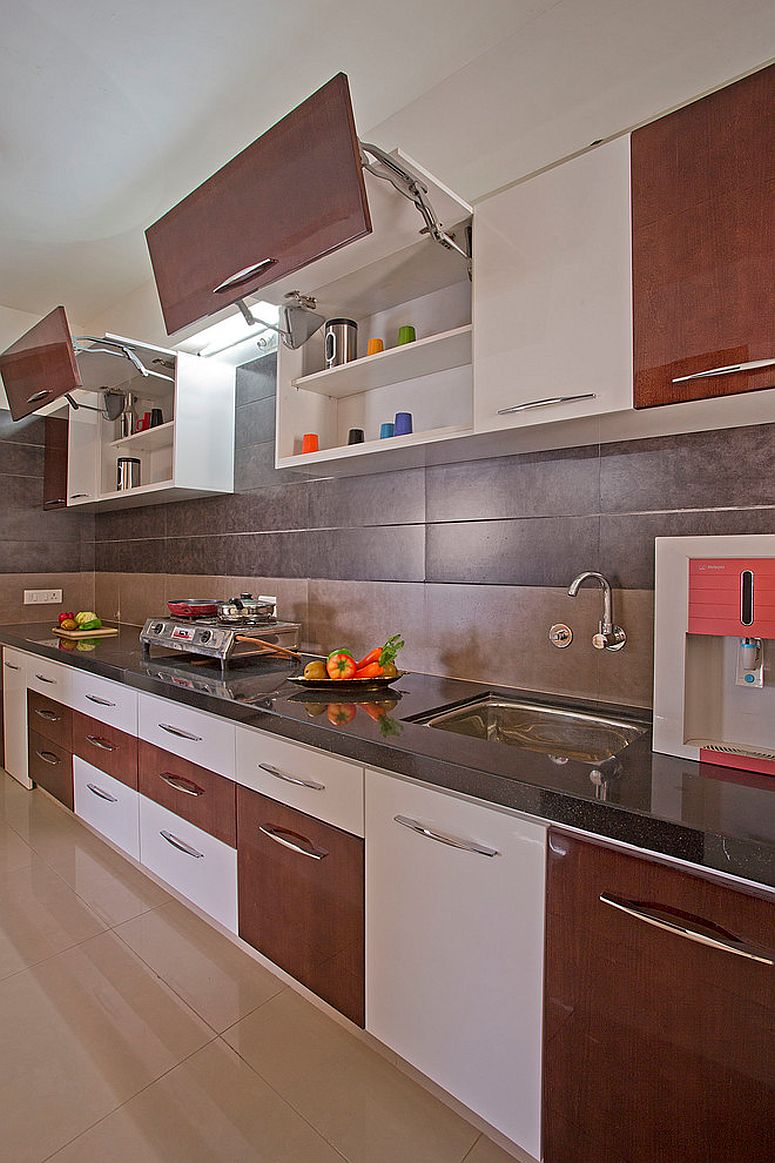 Simple and smart take on the space-savvy modern modular kitchen
