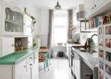 Small-shabby-chic-kitchen-makes-most-of-the-limited-space-on-offer-217x155