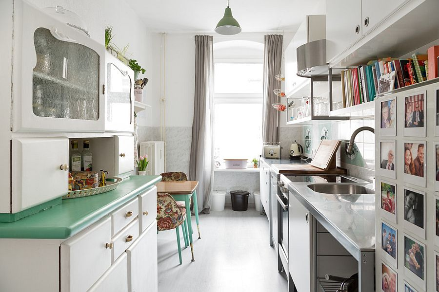 Small-shabby-chic-kitchen-makes-most-of-the-limited-space-on-offer