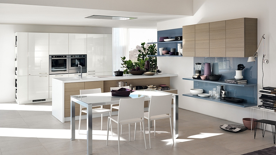 Smart-modular-kitchen-cabinets-combine-the-living-room-and-kitchen-aesthetics