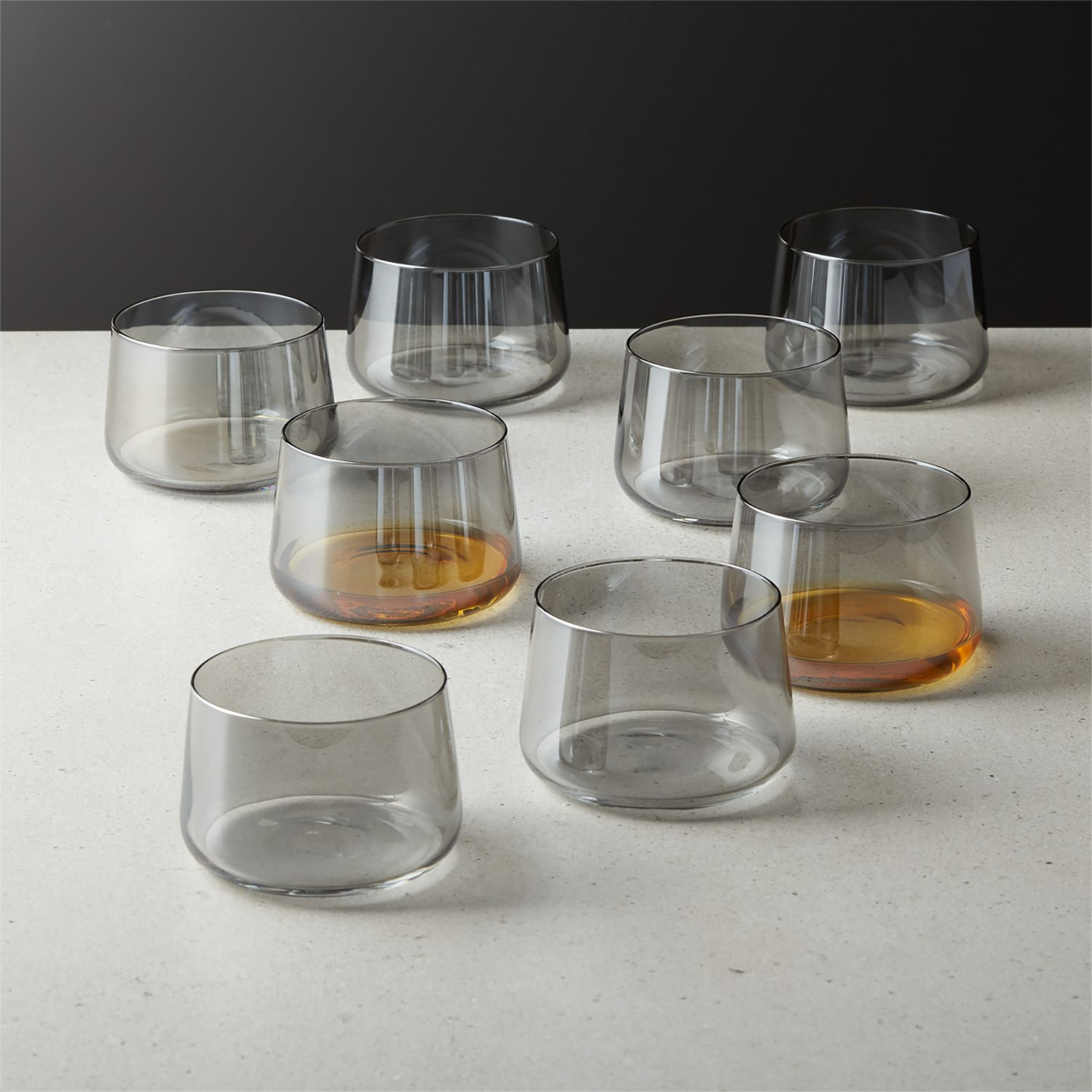 Smoky tasting glasses from CB2