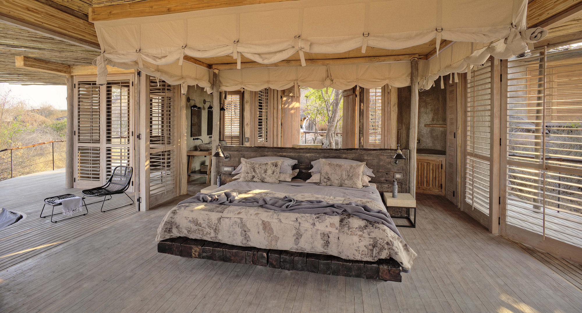 Spacious-bedroom-with-a-magical-view-of-Ruaha-National-Park