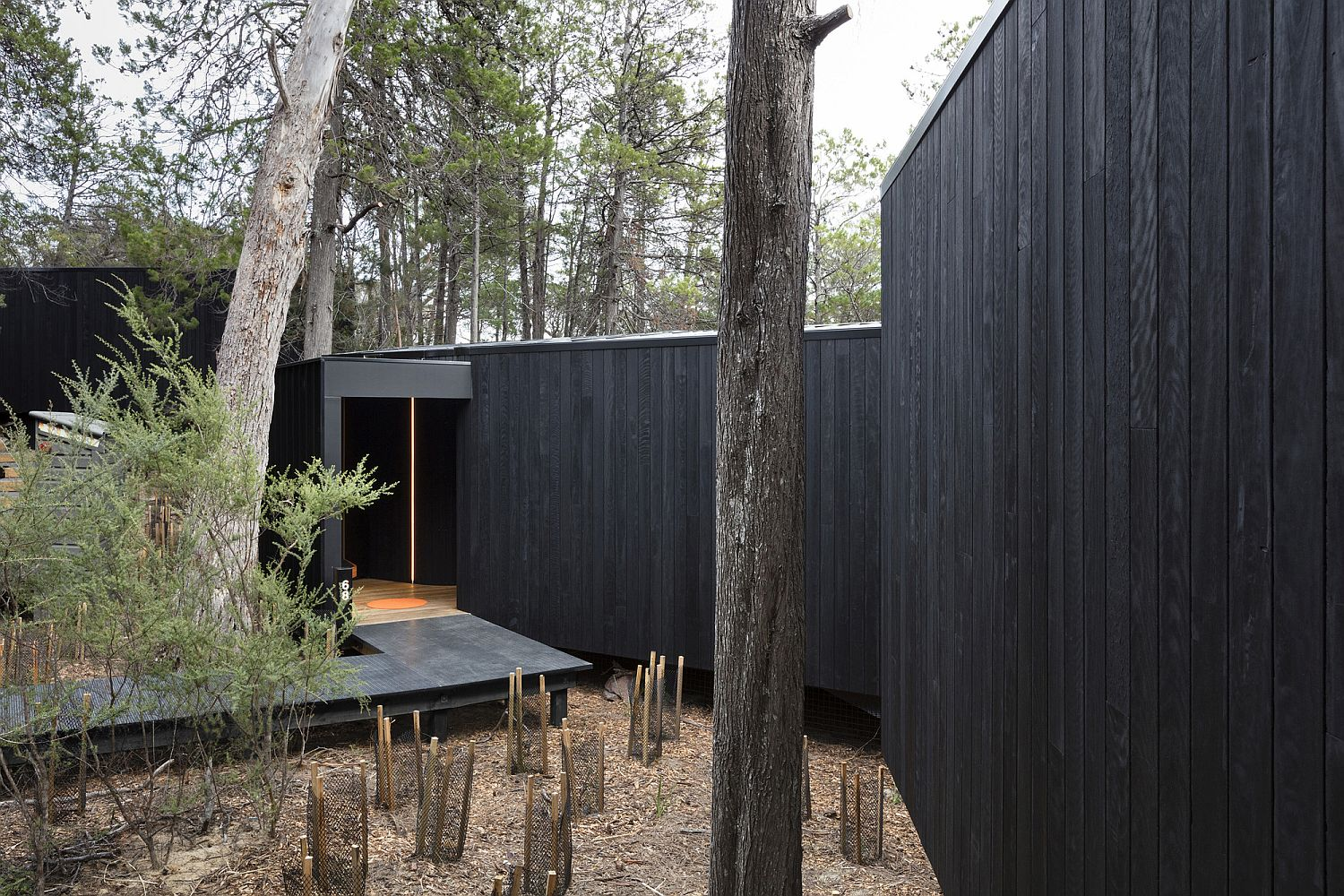 Tasmanian oak, blackwood and other locally sourced woods shape the lovely pavilions