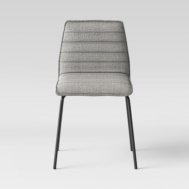 Tufted dining chair in grey