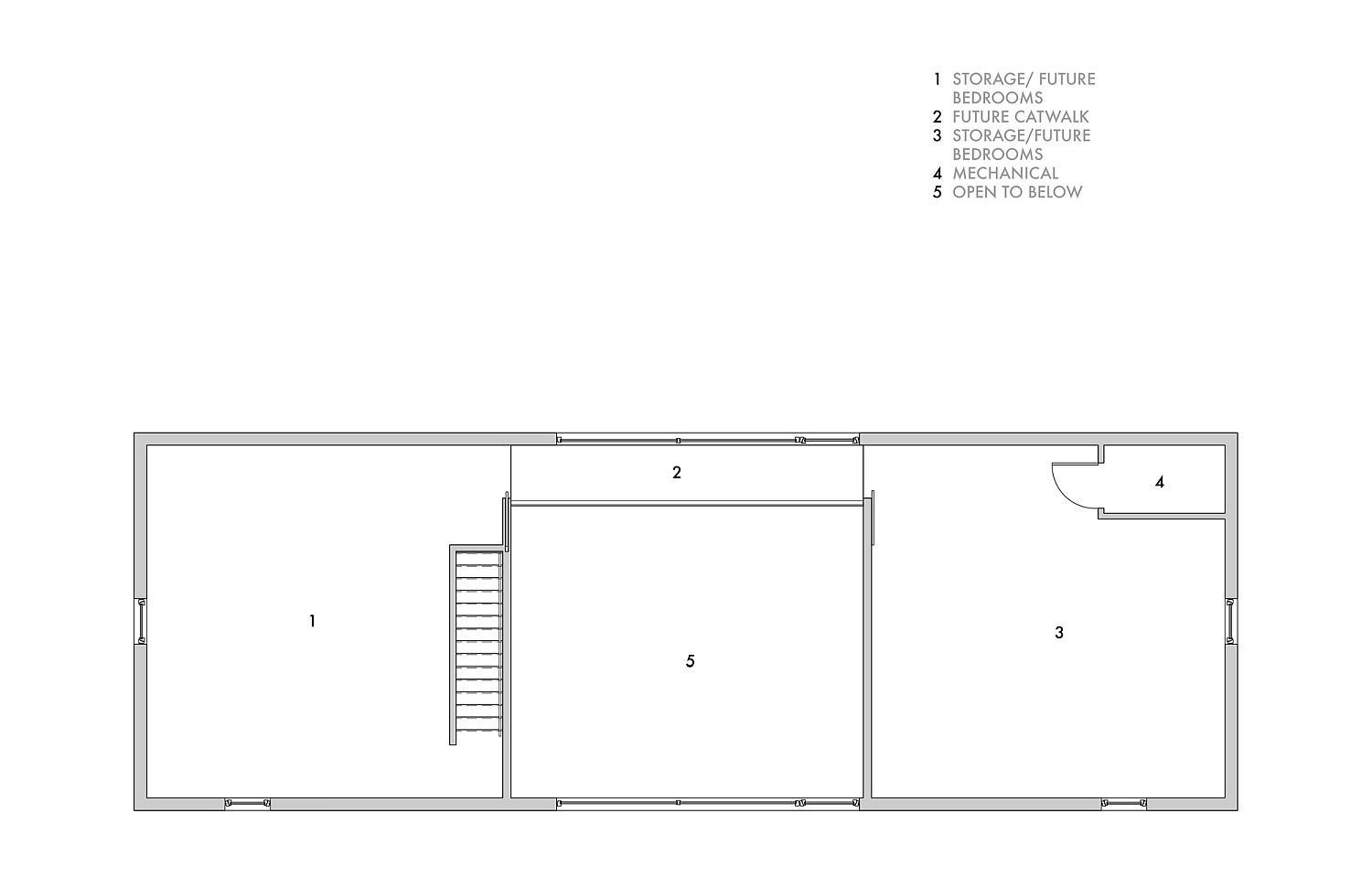 Upper level floor plan of the energy-efficient home in New York