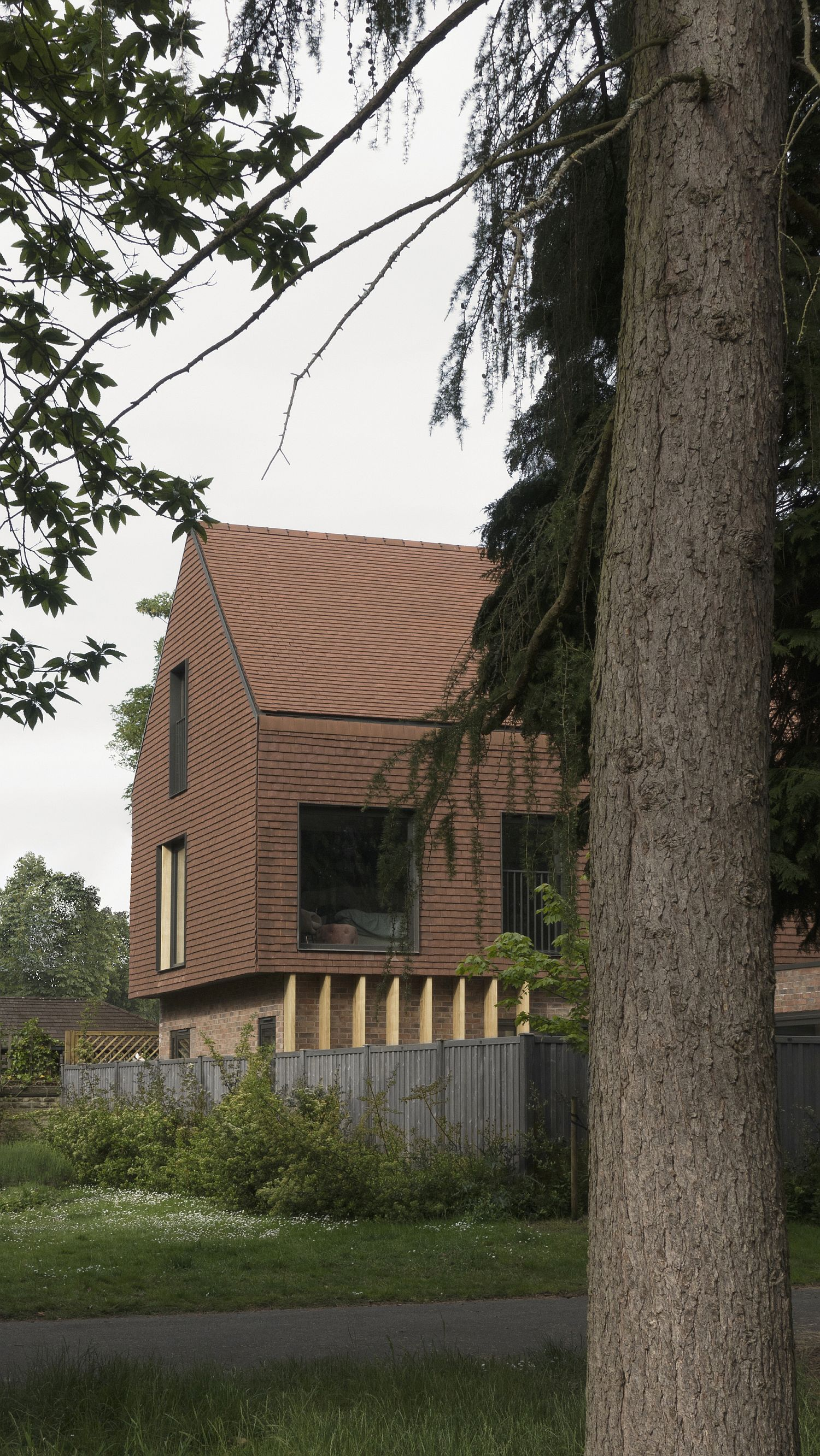 View of the Terracotta House from a distance gives it a classic appeal