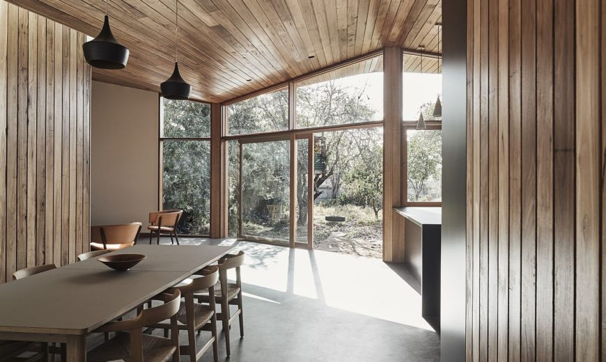 Post-War Home Aesthetics Combined with Cozy Modernity Inside the Barton House