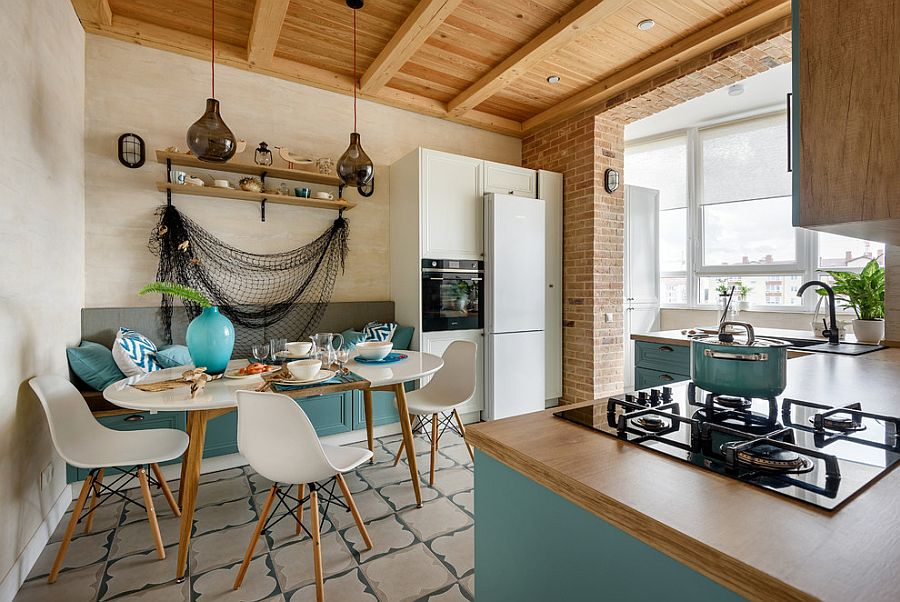 White-and-blue-beach-style-kitchen-with-smart-design-and-a-casual-relaxing-backdrop